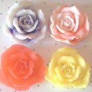 4 Handmade Customized Rose Goats Milk Soaps