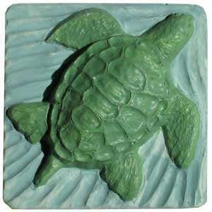 2 Handmade Sea Turtle Goats Milk Soaps 4oz each [Ocean Breeze Scented] FREE SHIPPING