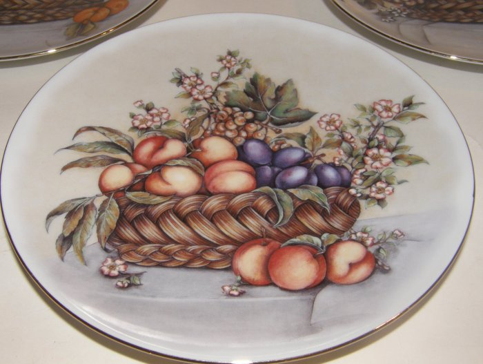 3 Gallery Fruit Caravaggio Style Plates Limoges