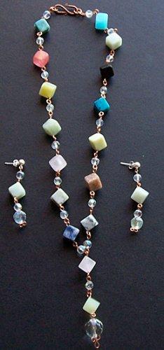 Multi Gemstone Necklace & Earring Set - FREE SHIPPING!
