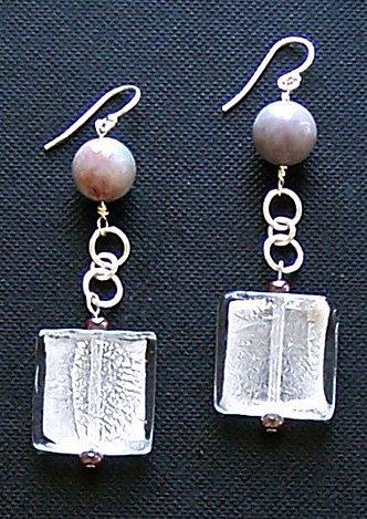 Sterling Silver & Jasper Earrings - FREE SHIPPING!