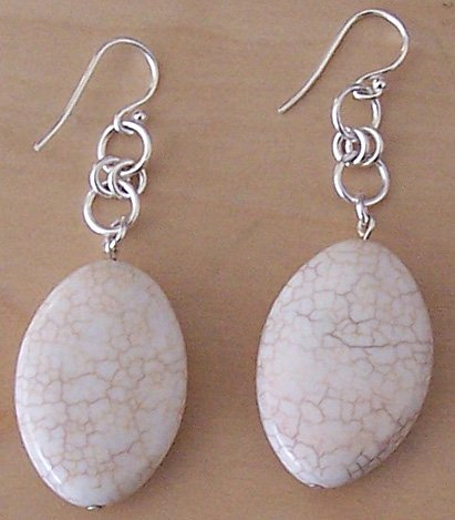 Sterling Silver & Howlite Gemstone Earrings - FREE SHIPPING!