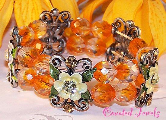 """FLOWERING SUN"" Crystal Bracelet - FREE SHIPPING!"