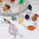 """COLORS"" Multi Gemstone & Sterling Silver Necklace - FREE SHIPPING!"