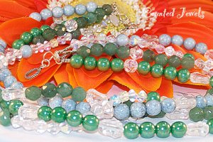 """AVENTURINE DREAM"" Aventurine, & Sterling Silver Necklace/Earring Set - FREE SHIPPING!"