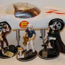Speed Racer Mach 5 Car and Figures Play set including Trixie Sprittle & Chim-Chim Go Speed Racer GO!
