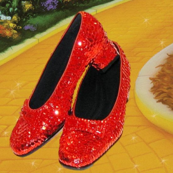 SOLD OUT Wizard of Oz Dorothy's Ruby Red Slippers Size 5 1/2 Replica Movie Prop Costume Piece