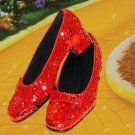 Wizard of Oz Dorothy's Ruby Red Slippers Size 5 1/2 Replica Movie Prop Costume Piece