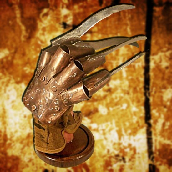 SOLD OUT Freddy Kreuger Replica Movie Prop Glove Metal Leather Life Sized Wearable Great for Costume