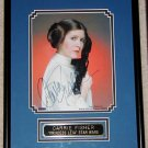 Star Wars Princess Leia Carrie Fisher Signed Autograph Framed and Ready for Display FREE SHIPPING