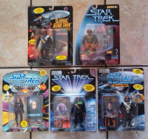 Star Trek Action Figure Klingon Lot of 5 Including Worf, Kang, Kruge and more