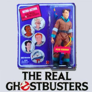 The Real Ghostbusters 6 Inch Action Figure Retro-Action Series 1 Peter Venkman Brown Suit