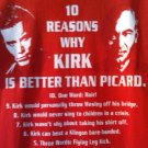 (S) Kirk better than Picard Star Trek Tee Shirt Adult Size Small