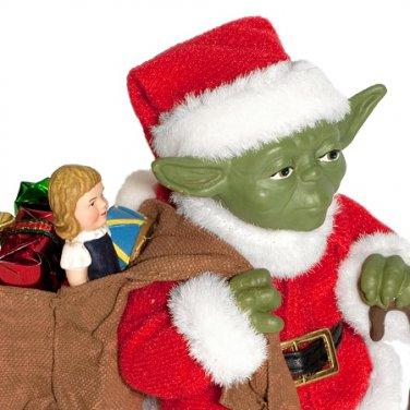 Star Wars Santa Yoda Christmas Statue Hand Crafted Fabriche