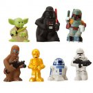 Star Wars Set Of 7 Character Bath Toys Disney Parks Exclusive