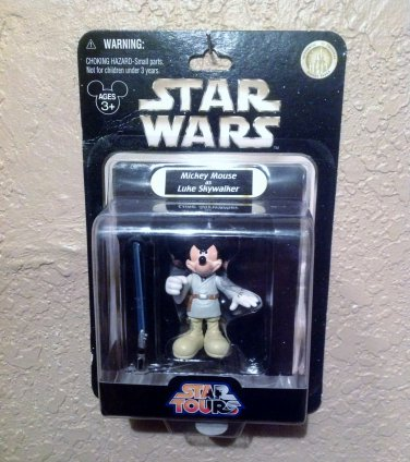 Star Wars Star Tours Mickey Mouse as Luke Skywalker Disney Action Figure