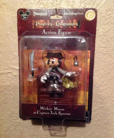 Disney Pirates of the Caribbean Mickey Mouse as Jack Sparrow Action Figure