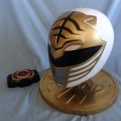 Mighty Morphin Power Rangers White Ranger Display Helmet and Morpher Replica Prop Set