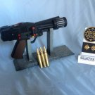 Battlestar Galactica Colonial Warrior Laser Gun Set with Patch, Recharge Pins, Plaque, and Base