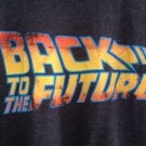 (L) Back to the Future Distressed Logo Tee Shirt Adult Size Large