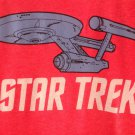 (L) Retro Star Trek Distressed Tee Shirt Adult Size Large
