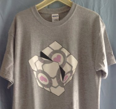 (XL) Portal Weighted Rubik's Cube Tee Shirt Adult Size X Large