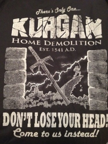 (S) Kurgan Home Demolition Highlander Tee Shirt Adult Size Small