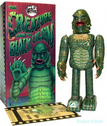 The Creature from the Black Lagoon Wind Up Tin Robot Licensed by Universal Studios Made In Japan