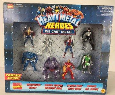 TOY BIZ MARVEL HEAVY METAL HEROES Die Cast Metal figure Dragon Man Dr. Doom Silver Surfer