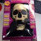 Talking Boris Halloween Skull Animated Jaw Prop Microphone Voice FX Glow Teeth