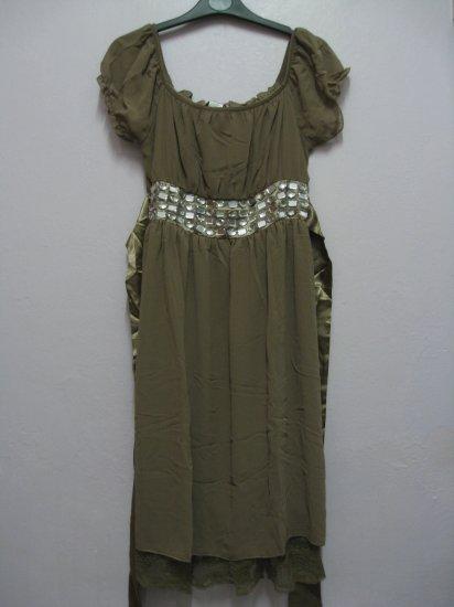 Dress (diamonds) Beige