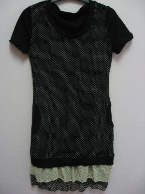 Blouse with lace - Black