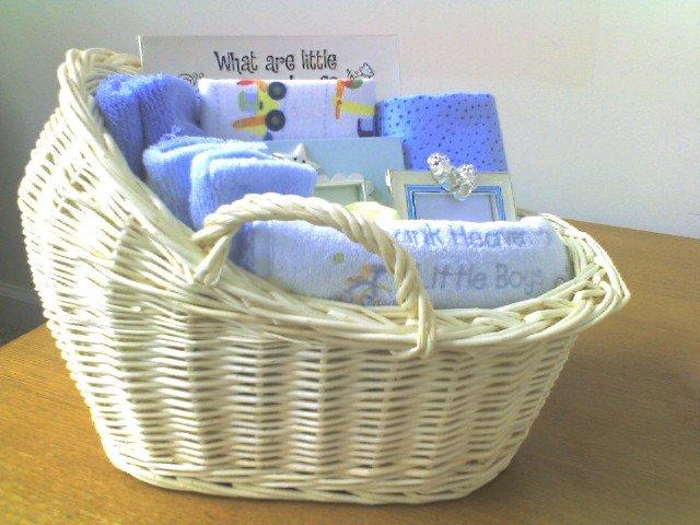 Baby Boy Blue Memory Basket