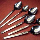 ONEIDA ARTISTIC 4 PLACE &2 ICED TEA SPOONS NORTHLAND STAINLESS FLATWARE SILVERWARE
