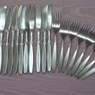 INTERNATIONAL SWIRL 22pc SUPREME STAINLESS FLATWARE SILVERWARE