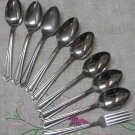 DS DS 1 DS1 KNIFE &8 PLACE SPOONS STAINLESS FLATWARE SILVERWARE