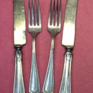 ONEIDA ROCKFORD HAWTHORN 1908 4pc SILVERPLATE FLATWARE SILVERWARE