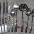 ONEIDA REBECCA 9pc NORTHLAND STAINLESS FLATWARE SILVERWARE SERVING SET