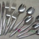 INTERNATIONAL DAPHNE 13pc SUPERIOR STAINLESS FLATWARE SILVERWARE