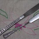 INTERPUR FLORENZ 8 PETAL SPREADER & PLACE KNIFE STAINLESS FLATWARE SILVERWARE