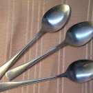 HANFORD FORGE SPRING WOOD 4 PLACE SPOONS STAINLESS FLATWARE SILVERWARE