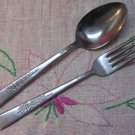 NS NATIONAL NST 76 NST76 PLACE FORK & SPOON STAINLESS FLATWARE SILVERWARE