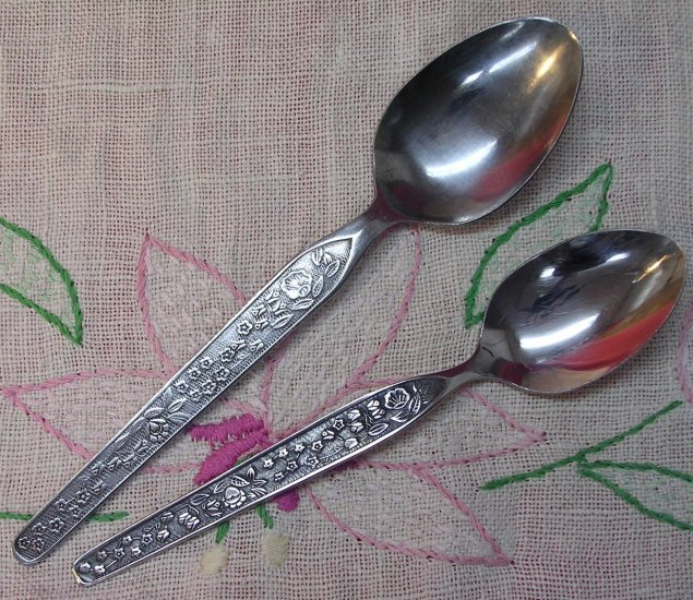 NATIONAL SEVITA PLACE & TEASPOON STAINLESS FLATWARE SILVERWARE