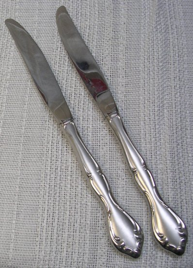 ONEIDA SATIN CANTATA 2 PLACE KNIVES COMMUNITY STAINLESS FLATWARE SILVERWARE