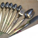 NORITAKE LINDEN 9pc STAINLESS STEEL FLATWARE SILVERWARE