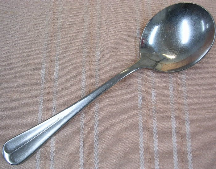 ONEIDA POST ROAD or POINTE ROYAL BOUILLON SPOON NORTHLAND STAINLESS FLATWARE SILVERWARE