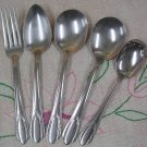 NATIONAL N.S. Co NST 42 NST42 5pc STAINLESS FLATWARE SILVERWARE