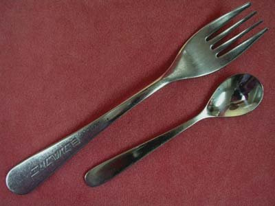EL AL AIRLINES 60-70's 2pc AVIATION STAINLESS FLATWARE SILVERWARE