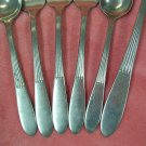 ONEIDA LTD WM A ROGERS SURF MAID 3 FORKS &3 SPOONS STAINLESS FLATWARE SILVERWARE