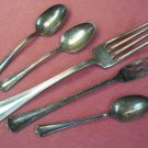 INTERNATIONAL 1847 ROGERS BROS CROMWELL 1912 5pc FLATWARE SILVERWARE SILVERPLATE